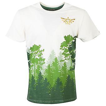 Nintendo Legend of Zelda Hyrule Forrest Sublimation T-Shirt Homme X-Large