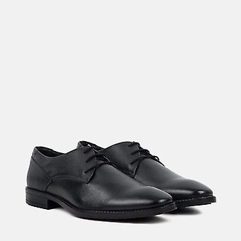 Bruce black leather derby shoe