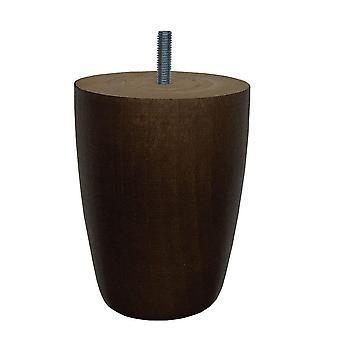 Ruskeat puiset pyöreät huone kalut jalka 12 cm (M8)