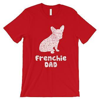 O pai francês dos bulldog homens o presente duro trabalhador duro vermelho da camisa