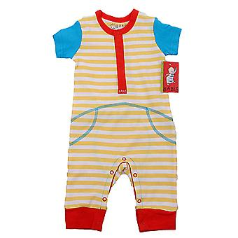 Baby overall with short sleeves striped, 62 cl