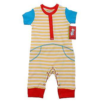 Baby Jumpsuit med kortærmet stribet