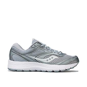 Womens Saucony Cohesion 12 Running Shoes In Grey / Silver