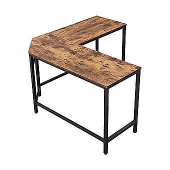 Ecke Schreibtisch-Schwarz/rustikal Braun