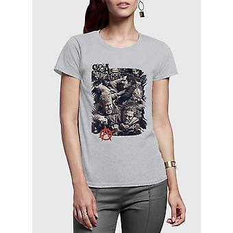 Sons on anarchy half sleeves women t-shirt