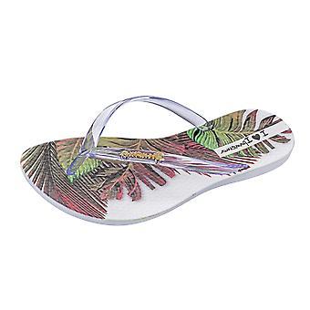 Ipanema Wave Tropical Womens Beach Flip Flops / Sandals - Clear