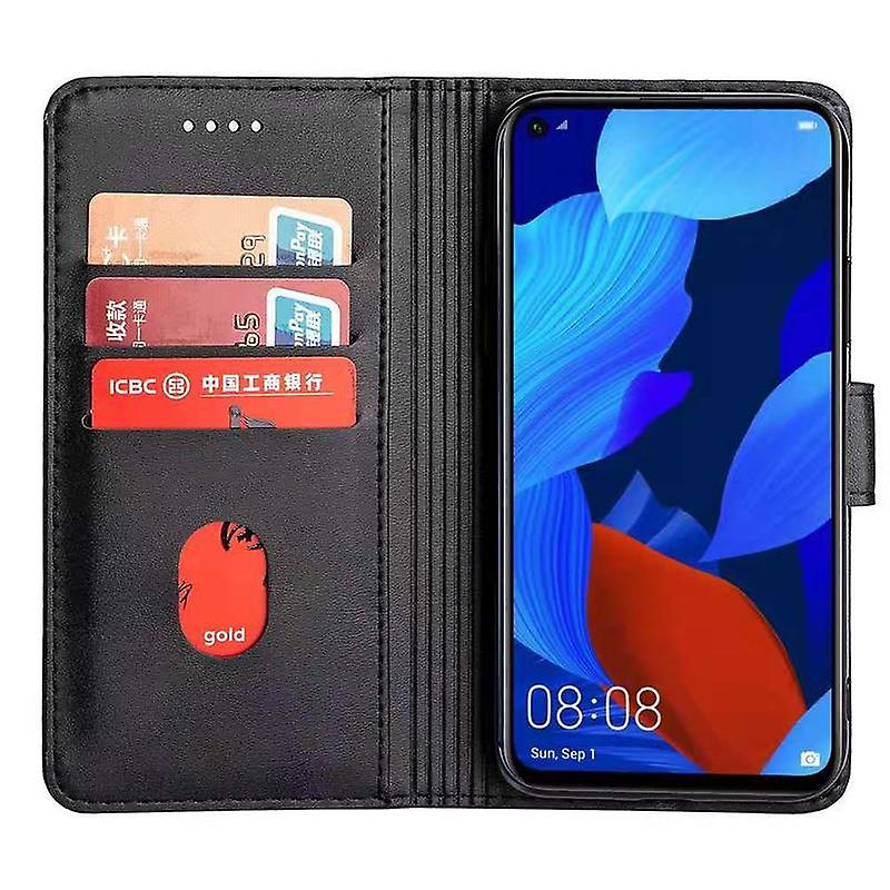 CaseGate phone case case cover for Huawei NOVA 5T case cover - with lock closure, stand function and card compartment