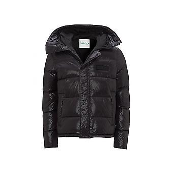 Kenzo Nylon Hooded Puffer Black Jacket