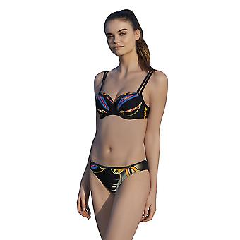 Sunflair 21092-910 Femmes-apos;s Shades of Palms Black Multiwired Soft Cup Bikini Set