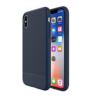 Para iPhone XS Caso, Azul Snap Armor Shock Proof Slim Protective Phone Cover