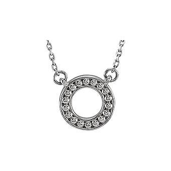 925 Sterling Silber poliert Perlen Kreis 16 18 Zoll Halskette Schmuck Geschenke für Frauen - 2,3 Gramm