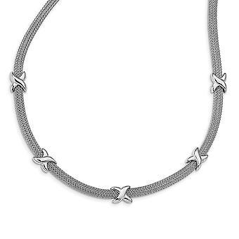 925 Sterling Silber poliert mit 2 In Ext Halskette 16,5 Zoll Schmuck Geschenke für Frauen - 9,5 Gramm