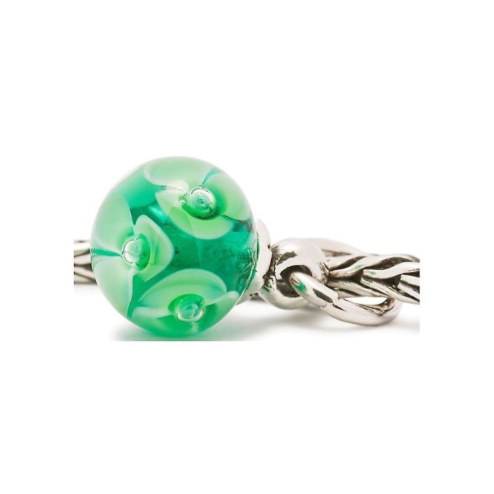 Trollbeads Green Flower Tassel Silver & Glass Bead 61728