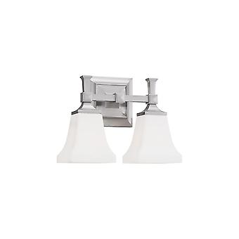 Sea Gull Lighting 44706-962 Melody 2-Light Wall Bath Brushed Nickel