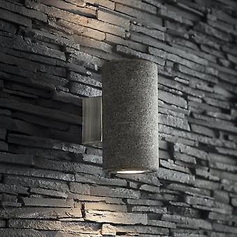 Jardín comercio Austell arriba y abajo de la lámpara de pared exterior IP44 granito