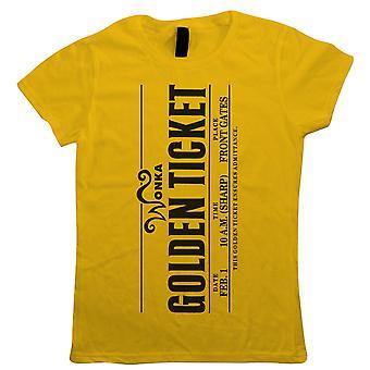 Wonka Golden Ticket Womens Movie Inspired T Shirt - World Book Day Costume