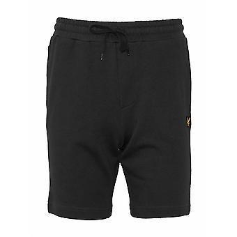 Lyle & Scott  Lyle & Scott Black Jersey Cotton Shorts