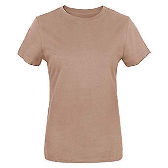 Funny World Women's Cotton Solid Short Sleeve T-Shirts, Khaki, Size XX-Large