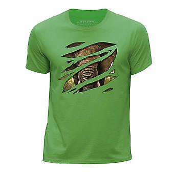 STUFF4 Chłopca rundy szyi T-shirty-Shirt/duży słoń/Rip/Zoo zwierzę/zielony