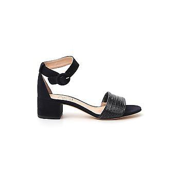 Agl Attilio Giusti Leombruni D631042pcke7051730 Women's Black Suede Sandals