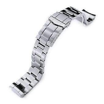 כתפיות צמיד שעונים 20mm סופר צדפה שעונים להקה mm300 seiko לשעבר marinemaster sbdx001 sbdx017, מוברש, צוללן מוצק אבזם