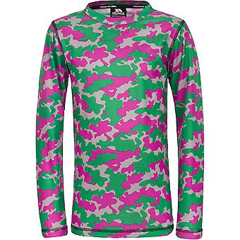 Trespass Girls Oaf Long Sleeve Wicking Quick Dry Base Layer Top