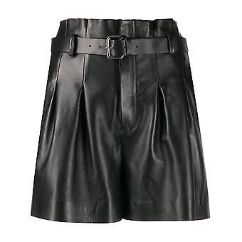 Red Valentino Sr0nh00i4l20no Women's Black Leather Shorts
