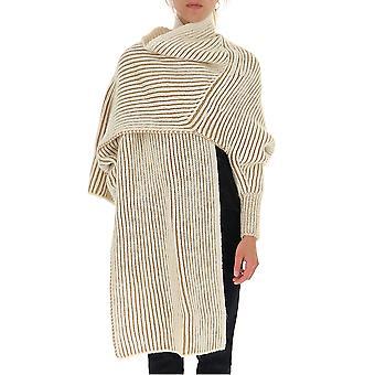 Chloé Chc19wmm0453024r Women's Beige Wool Poncho