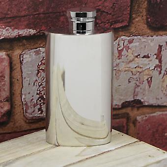 Top Pocket Plain Pewter Hip Flask - 2oz