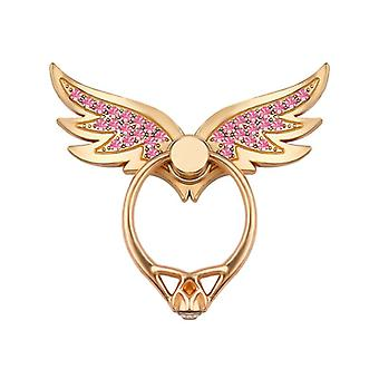 Bakeey bling bling wing 360 degree rotation finger ring holder desktop kickstand for iphone xiaomi
