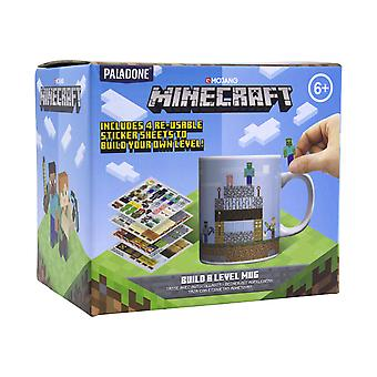 Minecraft Build a Level Mug With 4x Sheets of Reusable Stickers