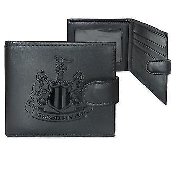 Newcastle United offizielle Leder Brieftasche geprägt Wappen Geschenk verpackt