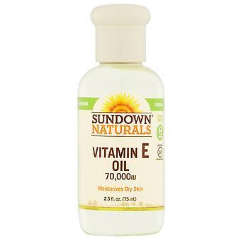 Sundown naturals pure vitamin e oil, 70000 iu, 2.5 oz