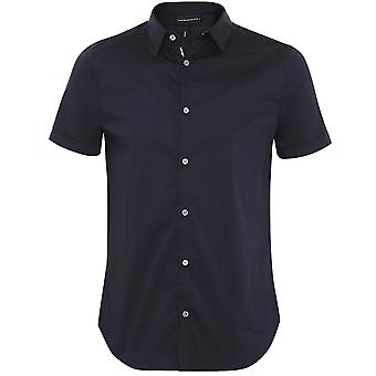 Armani Stretch Slim Fit Short Sleeve Shirt