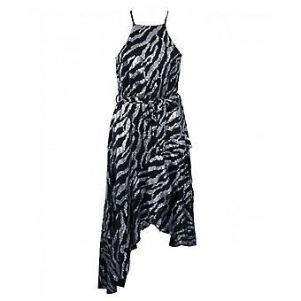 Forever Unique Collection Zebra Sequin Midi Dress
