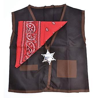 Cowboy Waistcoat/Bandana. Childs