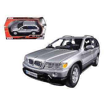 Bmw X5 Silver 1/24 Diecast Model Car By Motormax