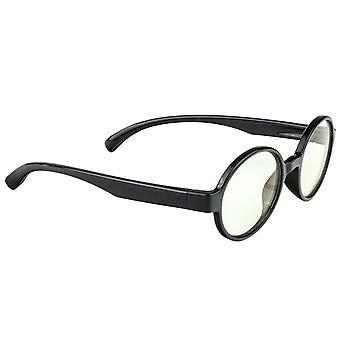 Anti Blue Light Glasses for Kids, Round - Black