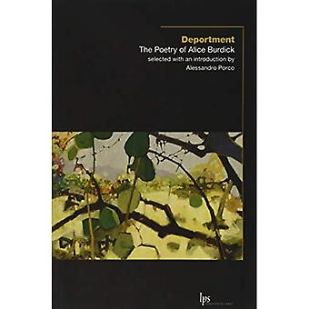 Deportment: The Poetry of Alice Burdick (Laurier Poetry)