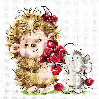 Magic Needle Cross Stitch Kit - Hedgehog and Mouse