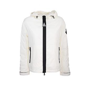 Moncler 1a51100c0391034 Women's White Nylon Outerwear Jacket