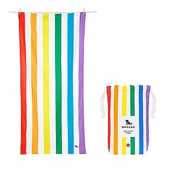Dock & bay quick dry beach towel - summer - rainbow skies