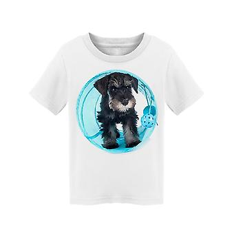 Mini Schnauzer On A Toy Ball Tee Toddler's -Image by Shutterstock