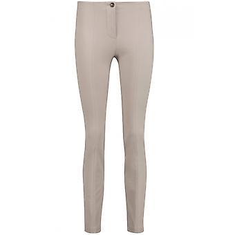 Taifun Slim Fit Taupe Trousers