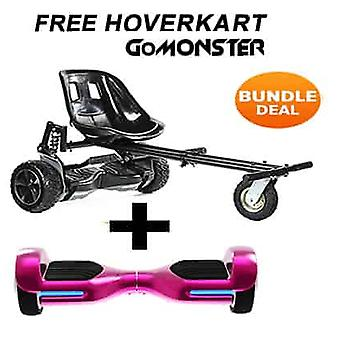 "6.5"" G PRO Pink Chrome Bluetooth Hoverboard & Monster Hoverkart in Schwarz"