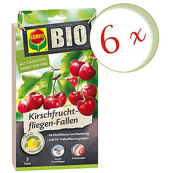 Sparset: 6 x COMPO BIO Cherry Fruit Fly Feller, 3 stk.