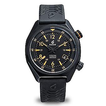BOLDR Expedition Sinai Automatic Black Strap Wristwatch