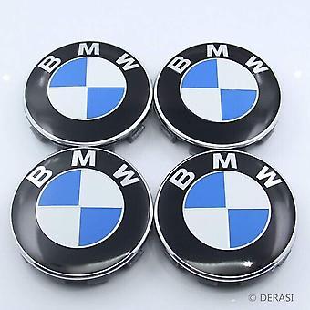 BMW Blue Wheel Centre Cap Hub Badge 68mm 4PCS For 13 5 7 Series, X6, M3, Z4, E46, E90