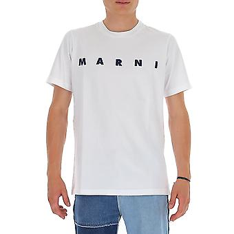 Marni Humu0170p0s2276300w01 Heren's White Cotton T-shirt