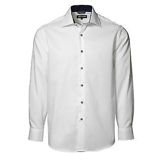 ID Mens Classic Easy Iron Contrast Long Sleeve Regular Fitting Formal Shirt
